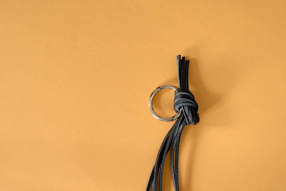 Skórzany kwietnik wiszący Lade #1 czarny - Steil