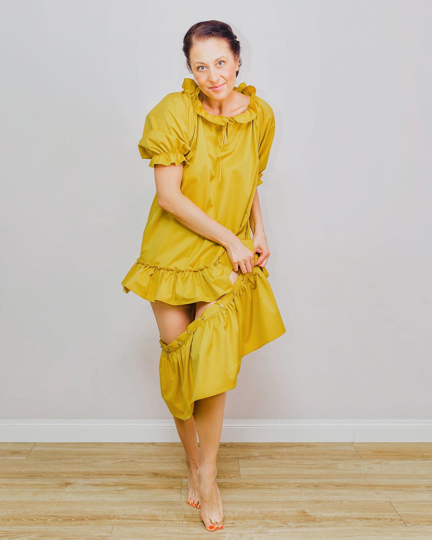 Musztardowa sukienka Solei Vanilla Stuff - Slow Store | JestemSlow.pl
