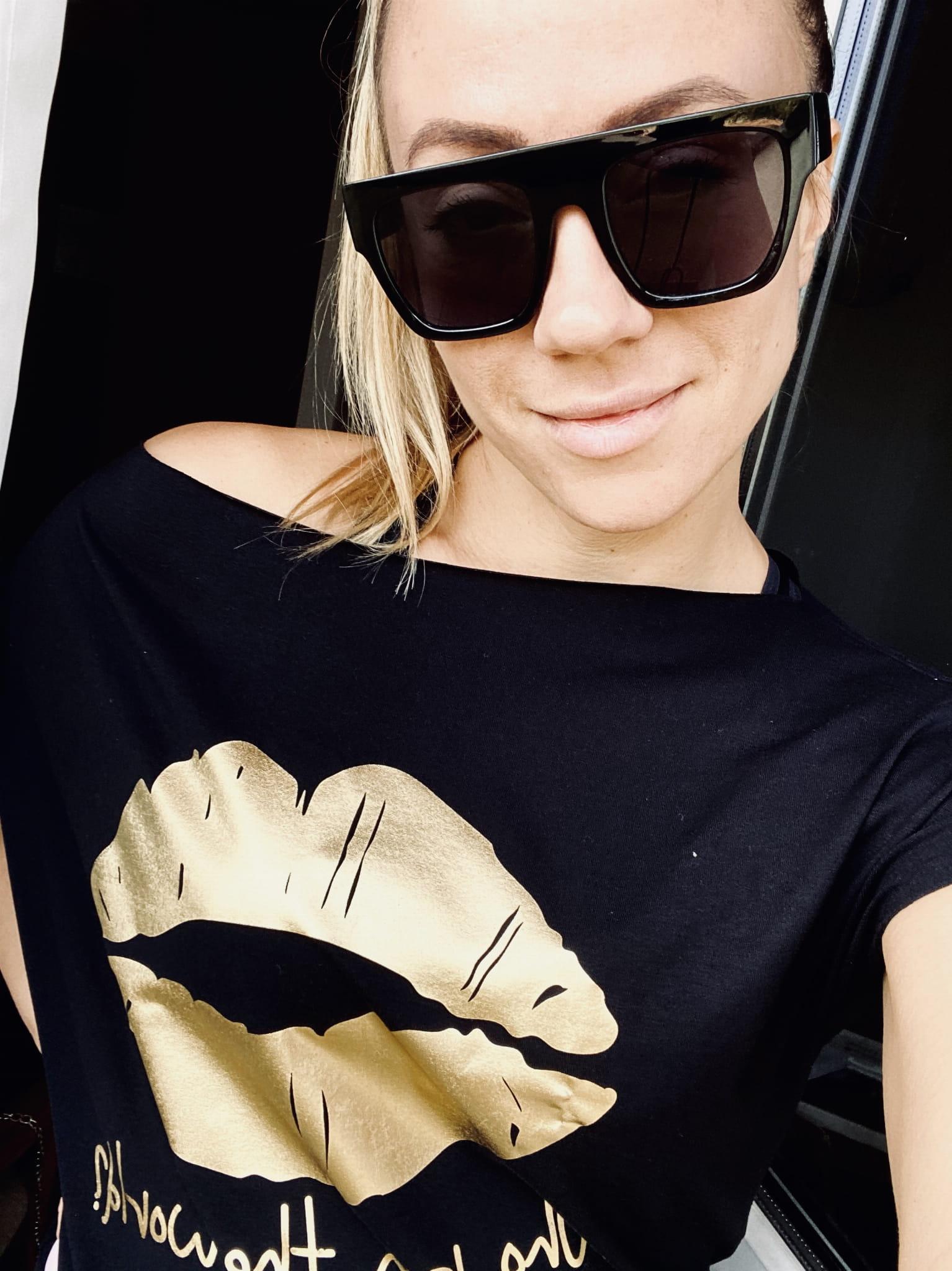 T-shirt z nadrukiem USTA black RUUDE - Slow Store   JestemSlow.pl