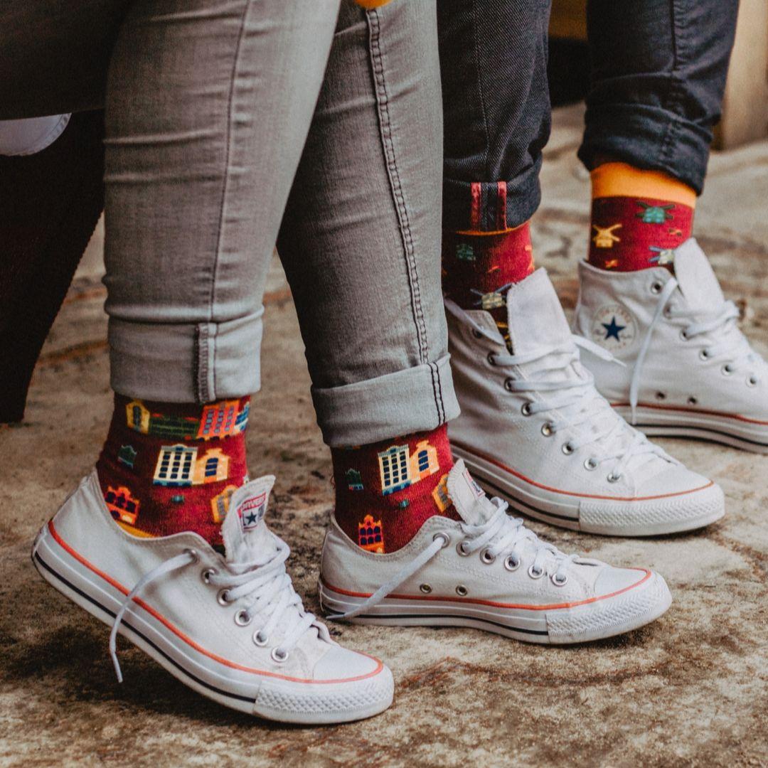 Skarpetki w kamieniczki rozmiar 36 - 41 - FAVES. Socks&Friends
