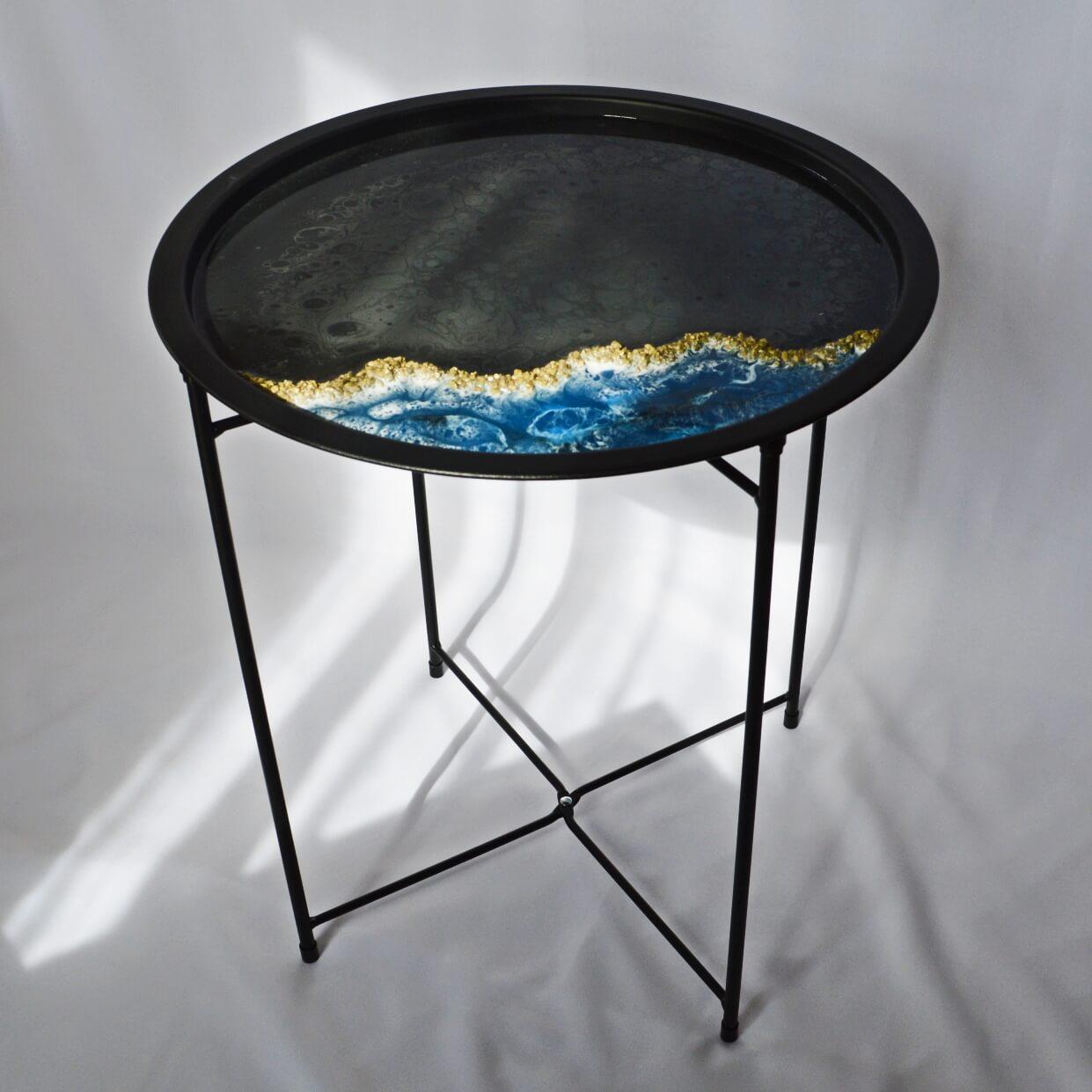 Stolik składany ozdobny, kawowy, kwietnik, PL - Moami Design | JestemSlow.pl
