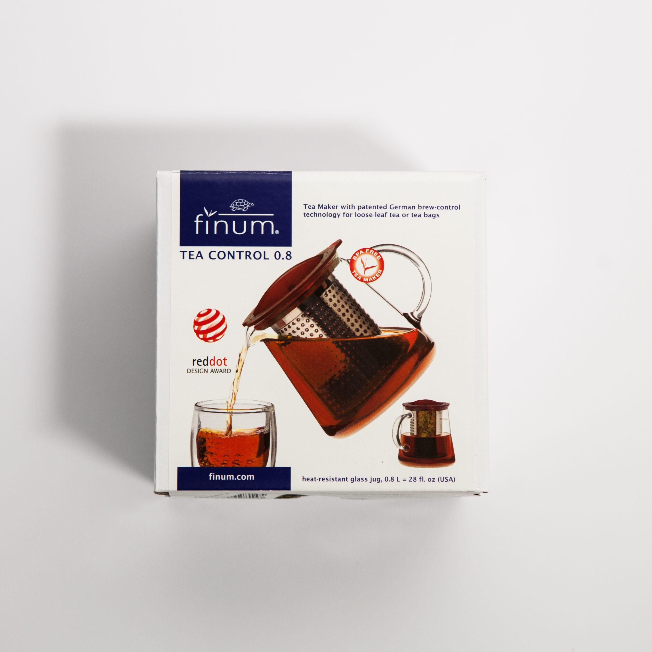 Dzbanek z zaparzaczem Tea Control 0,8 l czarny Finum - Coffee Gang | JestemSlow.pl