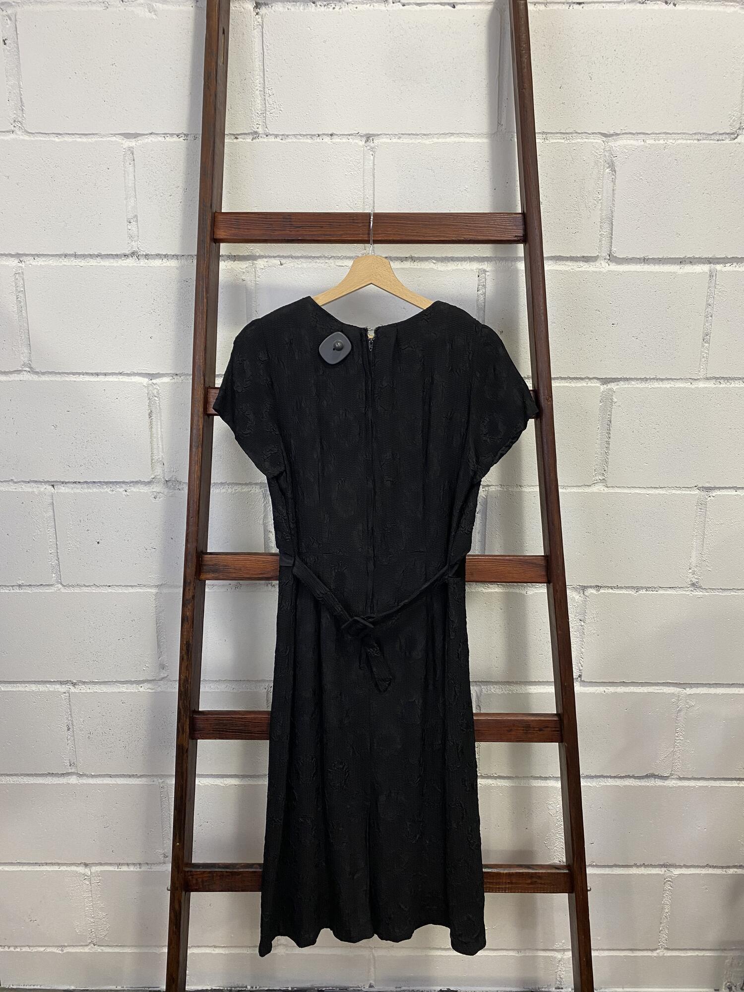 Czarna sukienka midi CLASSIC LADY - Vintage Store | JestemSlow.pl
