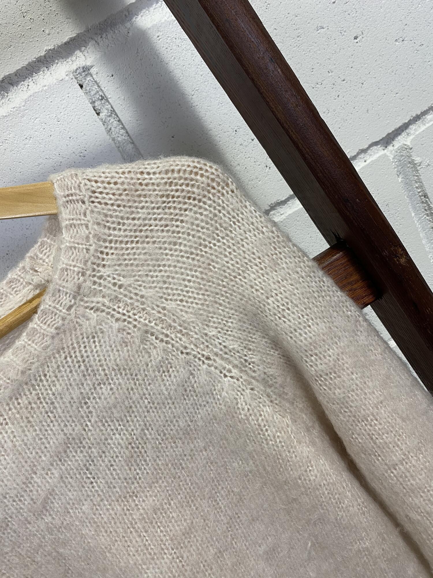 Sweter beżowy z wełną - Vintage Store | JestemSlow.pl