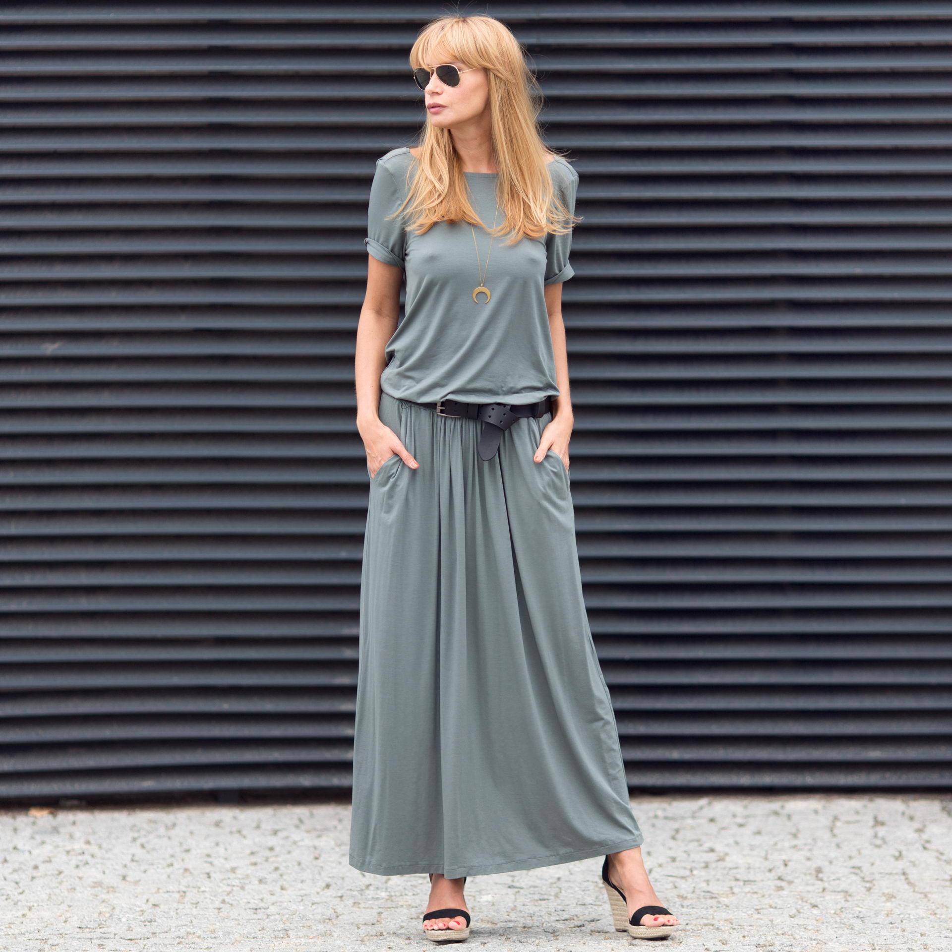 Sukienka Maxi Vera  niebieska sukienka odkryte plecy polski projektant- Candy Floss