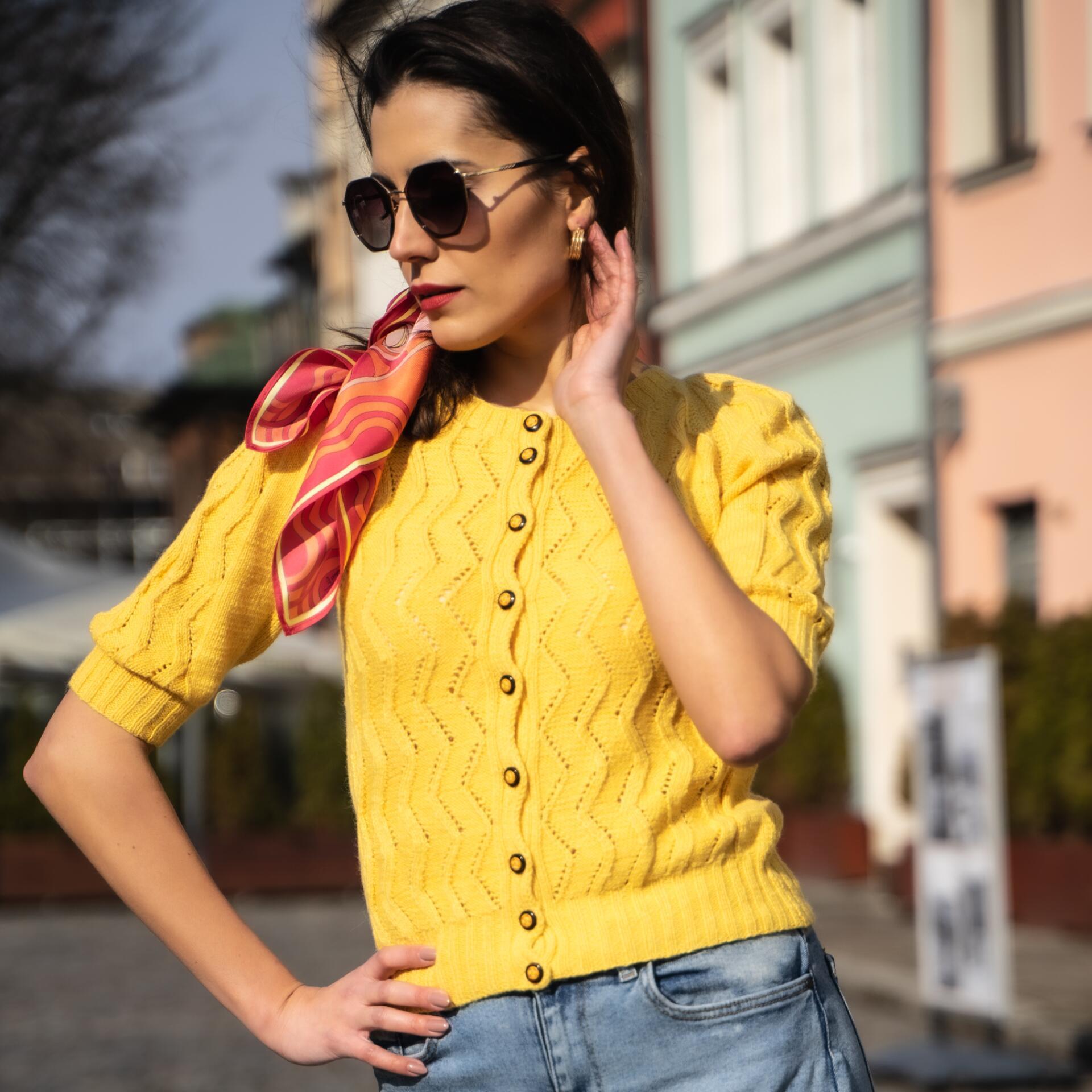 Sweterek kaszmirowo-bawełniany SINTRA - SYLVIA DARA SYLWIA DYDA | JestemSlow.pl