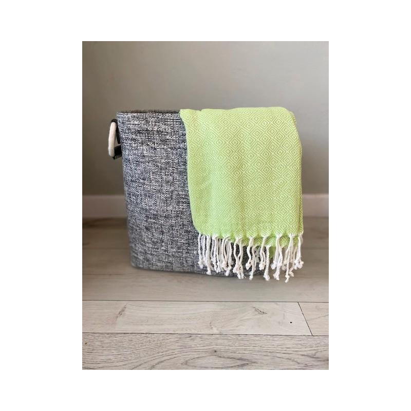 Ręcznik z ręcznie tkanej bawełny peshtemal 180x100 cm Zielony Bawełna - HisOutfit