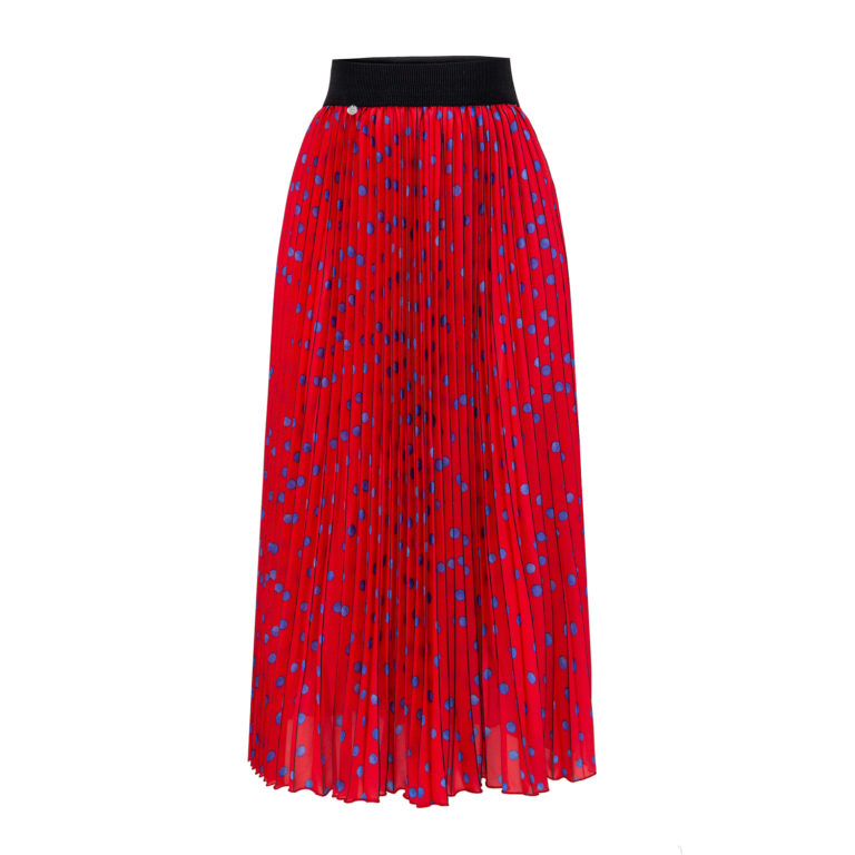 Spódnica helena czerwona w kropki Intensi - Slow Store | JestemSlow.pl