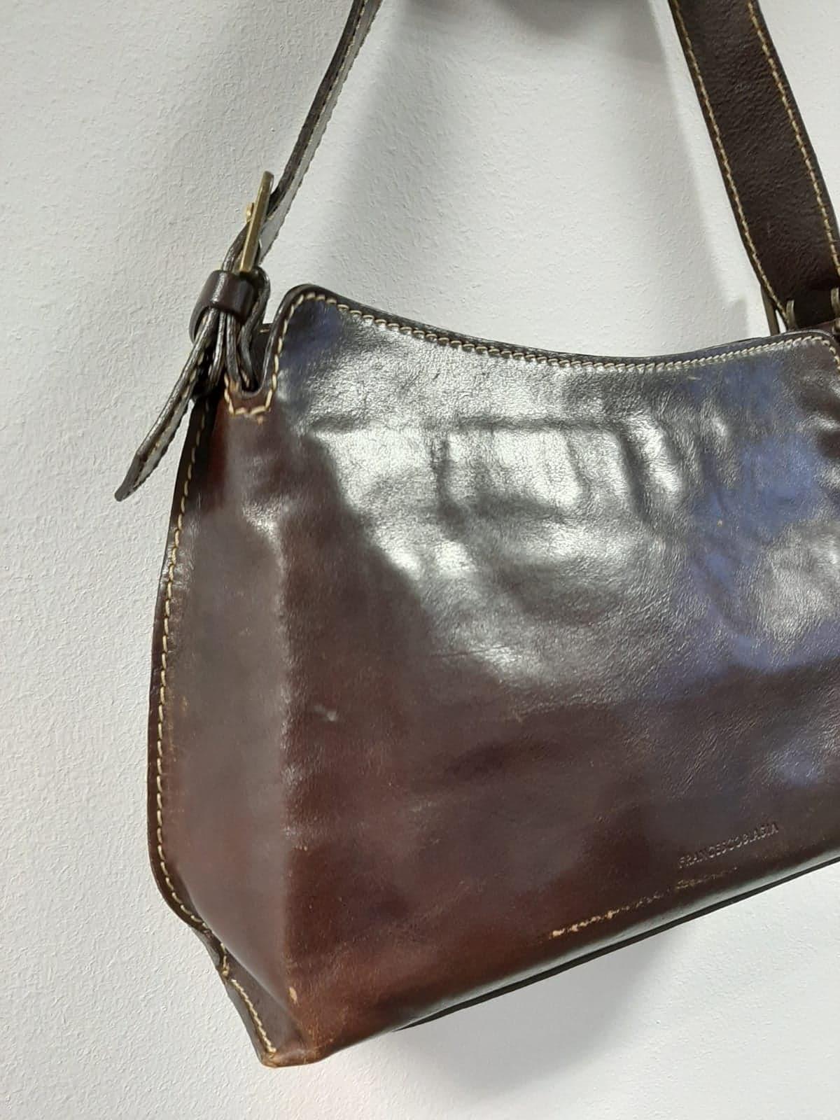 Brązowa torebka na ramię FrancescoBiasia - PONOŚ SE vintage shop | JestemSlow.pl