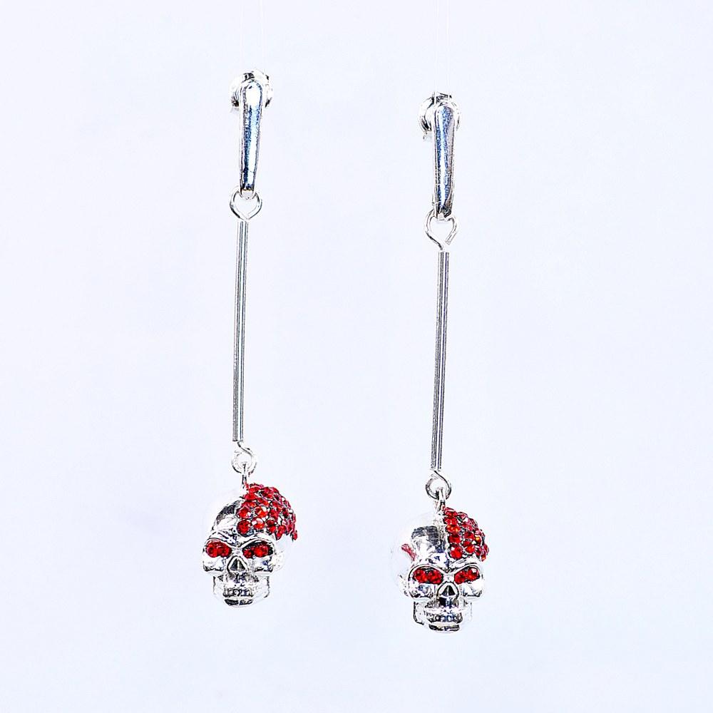 Kolczyki czaszki ze srebra - Boo Art