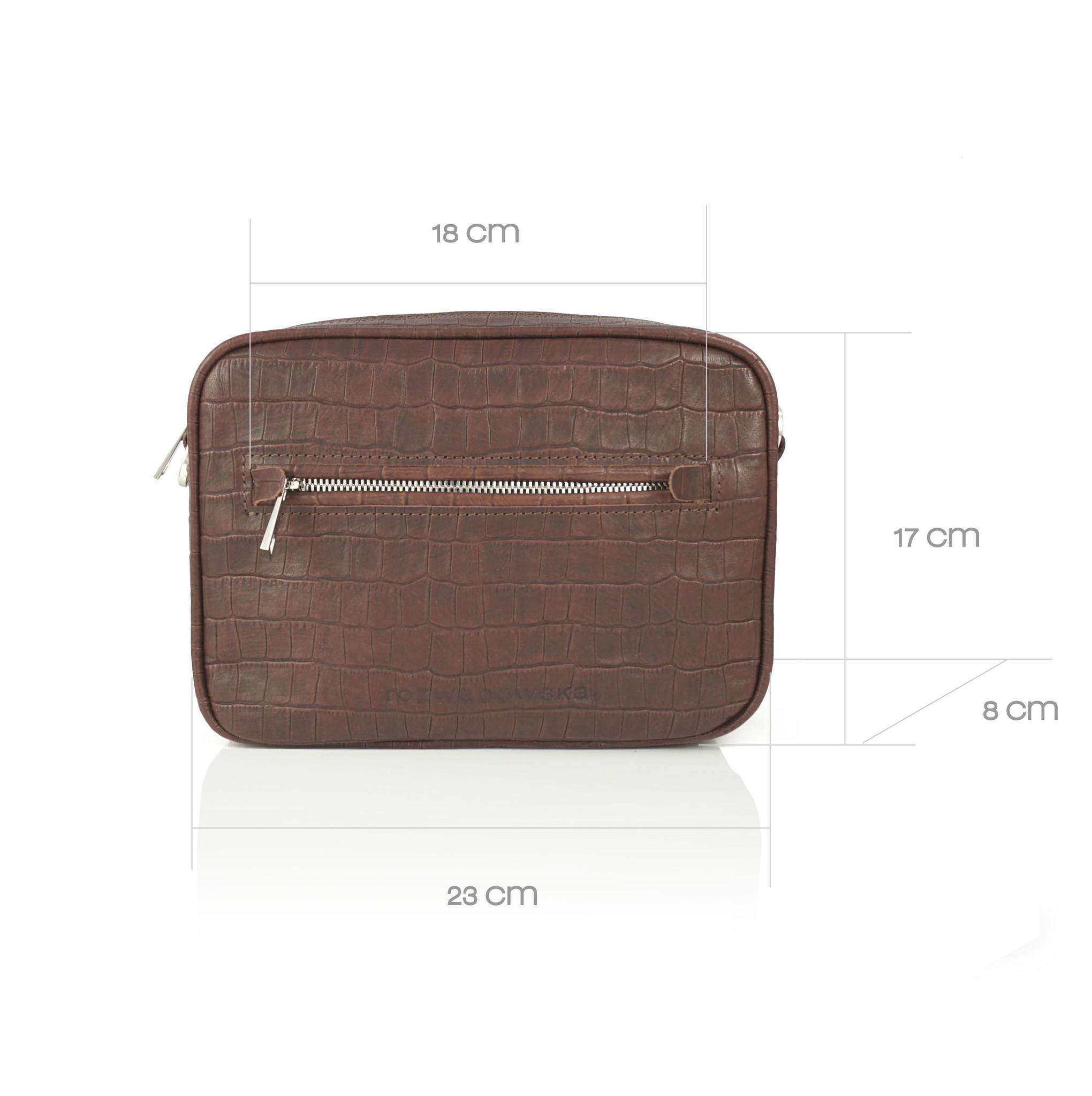 BOXY MIDI BORDO - torebka skórzana - torebka w kształcie pudełka - torebka na suwak - torebka na pasek - torebka w kolorze bakłażanu - Rozwadowska Bags | JestemSlow.pl