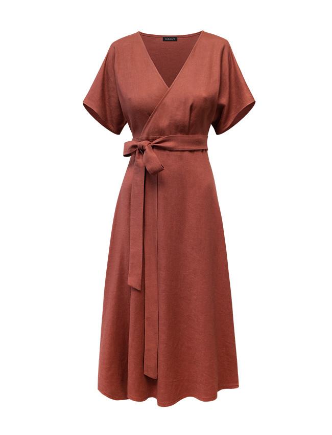 Sukienka RITA red ochra - Cocoon