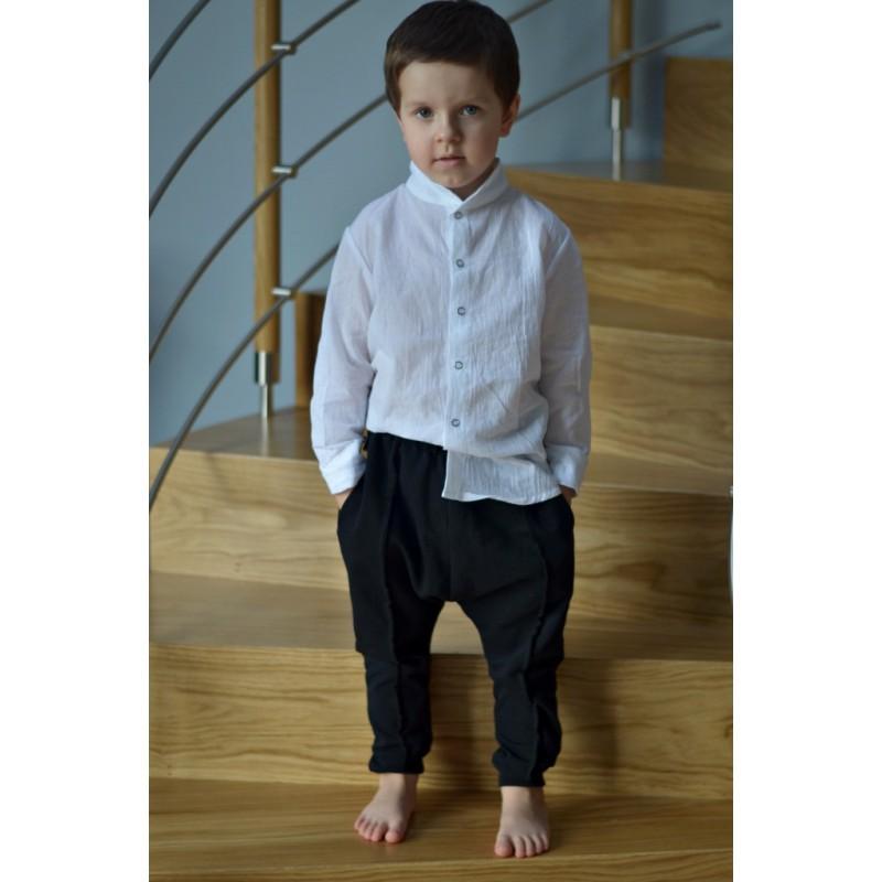 Spodnie z przeszyciami czarne Rozmiar - Mizerki Kids