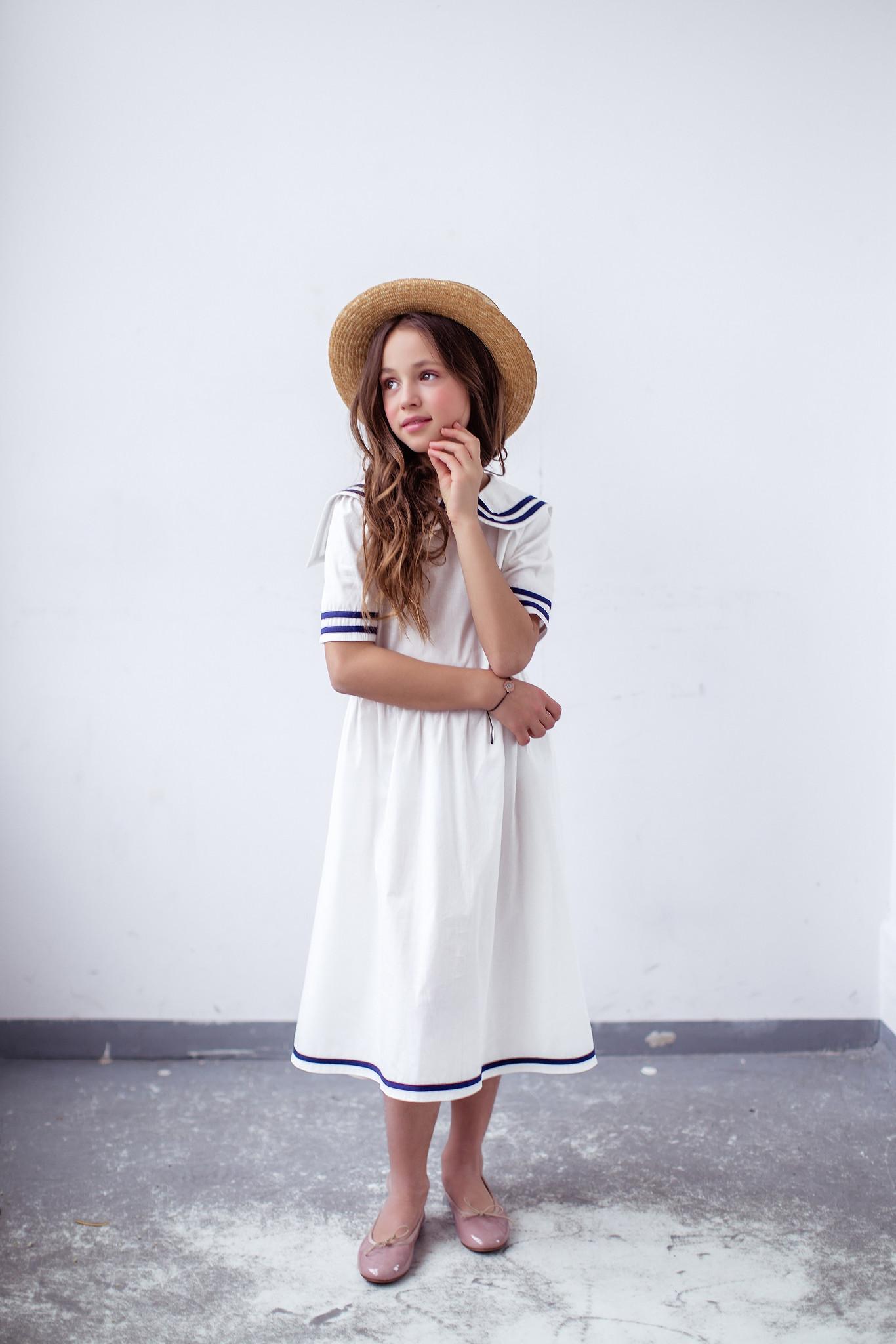 Sukienka w stylu marynarskim - Domino.little.dress