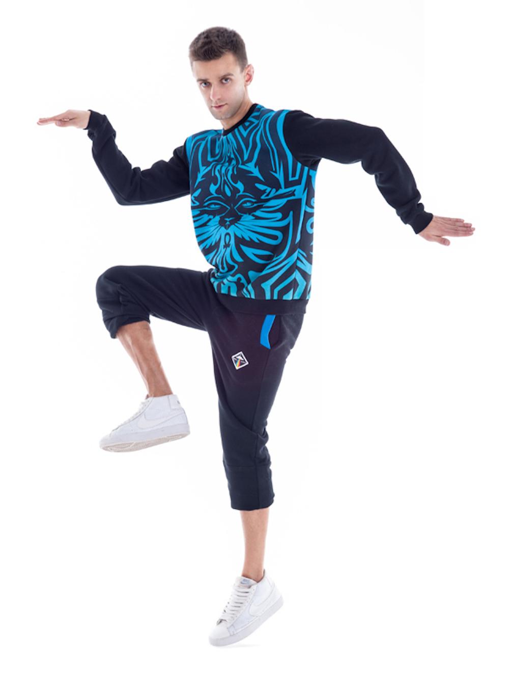 Bastet Sweatshirt (Blue) - Okuaku