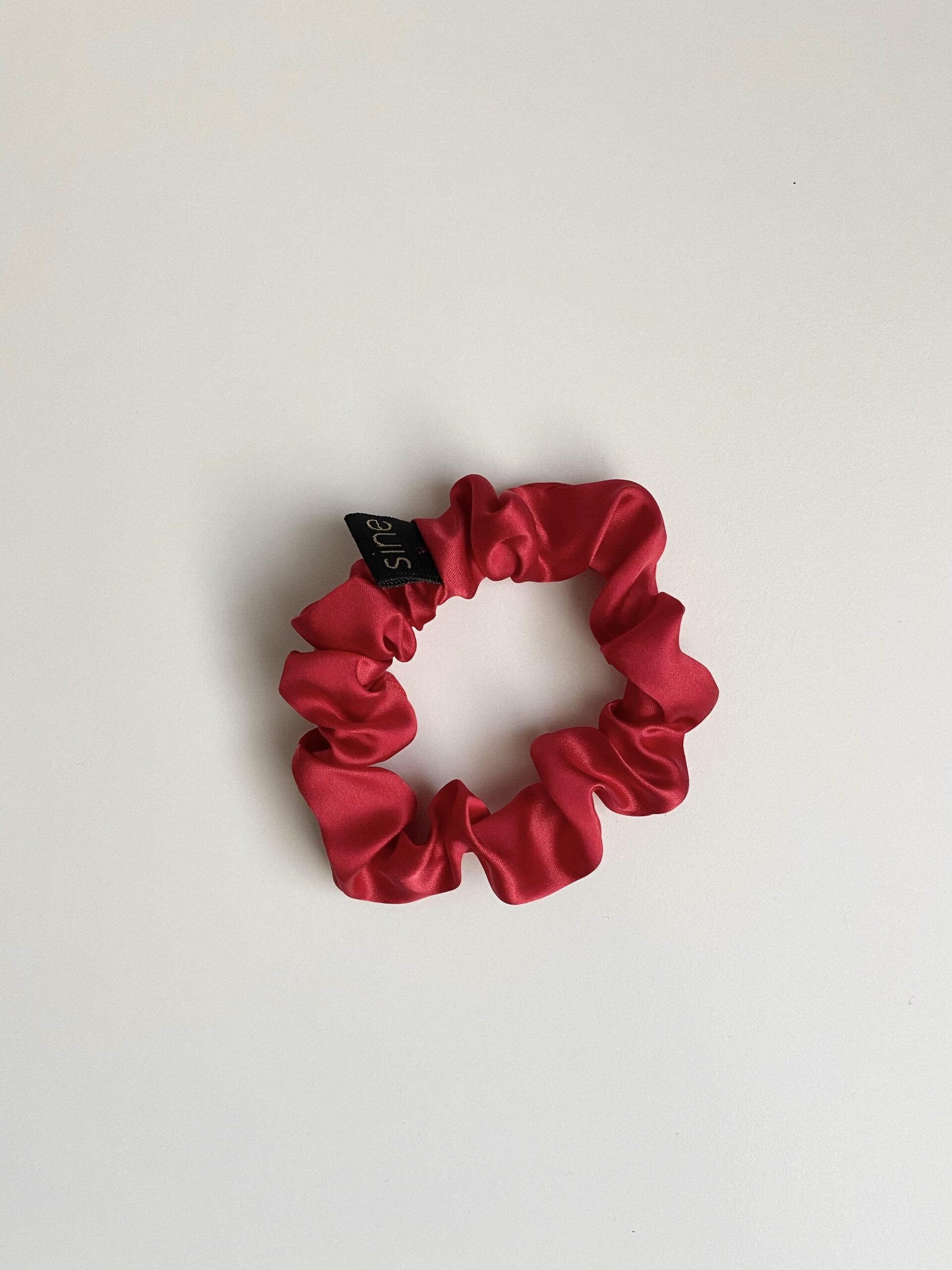 Jedwabna gumka do włosów | RED - Sine Silk | JestemSlow.pl