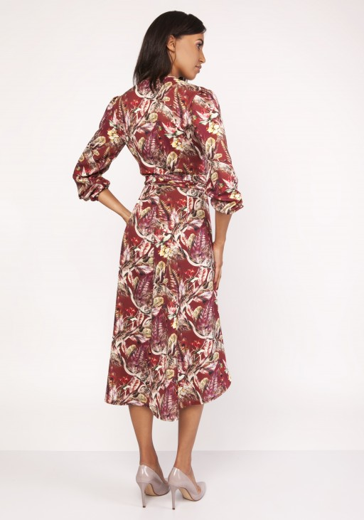 Asymetryczna, kopertowa sukienka, SUK161 wzór - Lanti | JestemSlow.pl