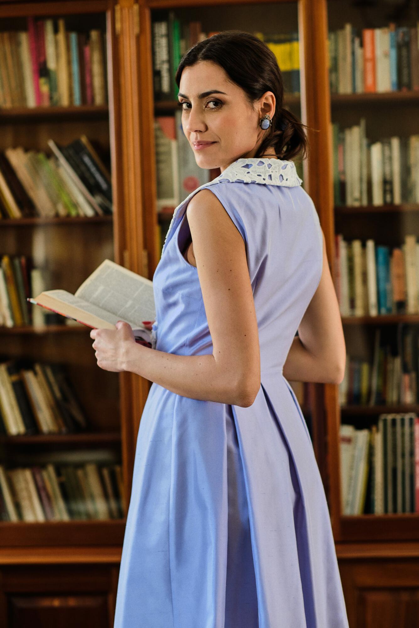Sukienka Saint Tropez - jedwab z bawełną - SYLVIA DARA SYLWIA DYDA | JestemSlow.pl