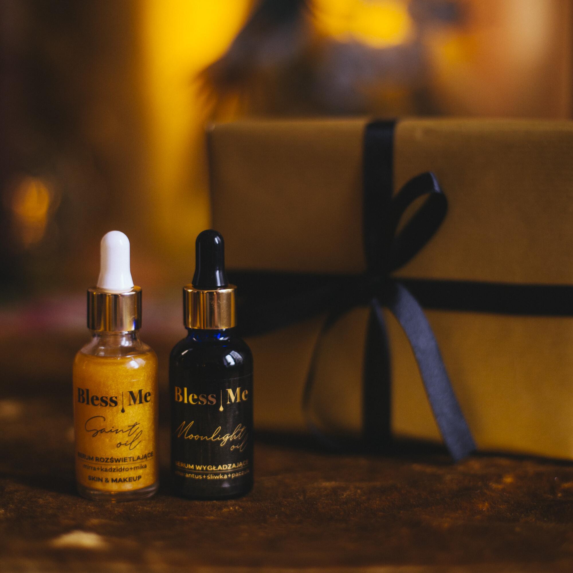 Zestaw: Serum Rozświetlające Saint Oil 30 ml i Serum Wygładzające Moonlight Oil 30 ml - Bless Me Cosmetics | JestemSlow.pl