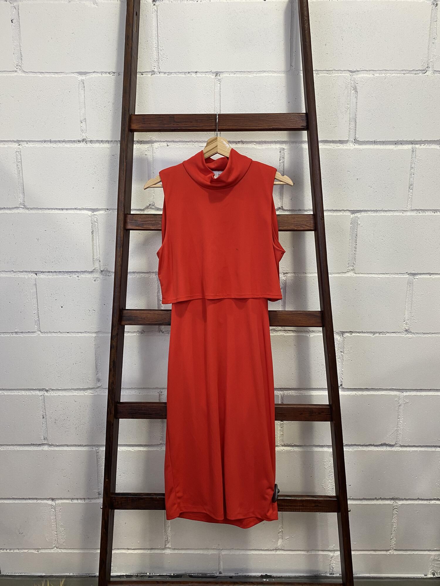 Czerwona sukienka o asymetrycznym kroju ASOS PETITE - Vintage Store | JestemSlow.pl