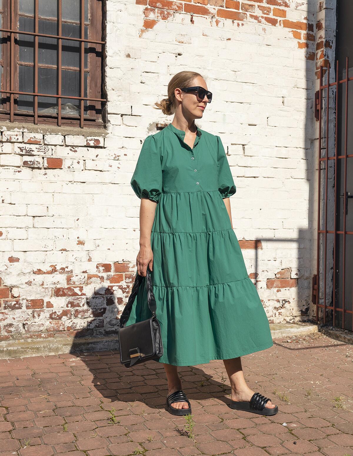 Sukienka FRIDA green - Cocoon | JestemSlow.pl