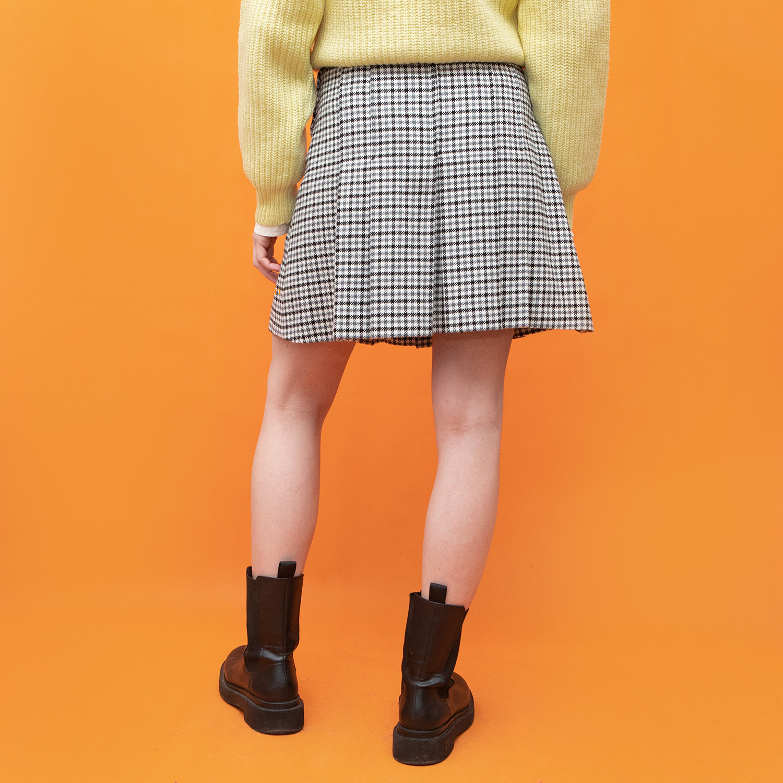 Plisowana spódnica w kratę rozmiar - KEX Vintage Store | JestemSlow.pl