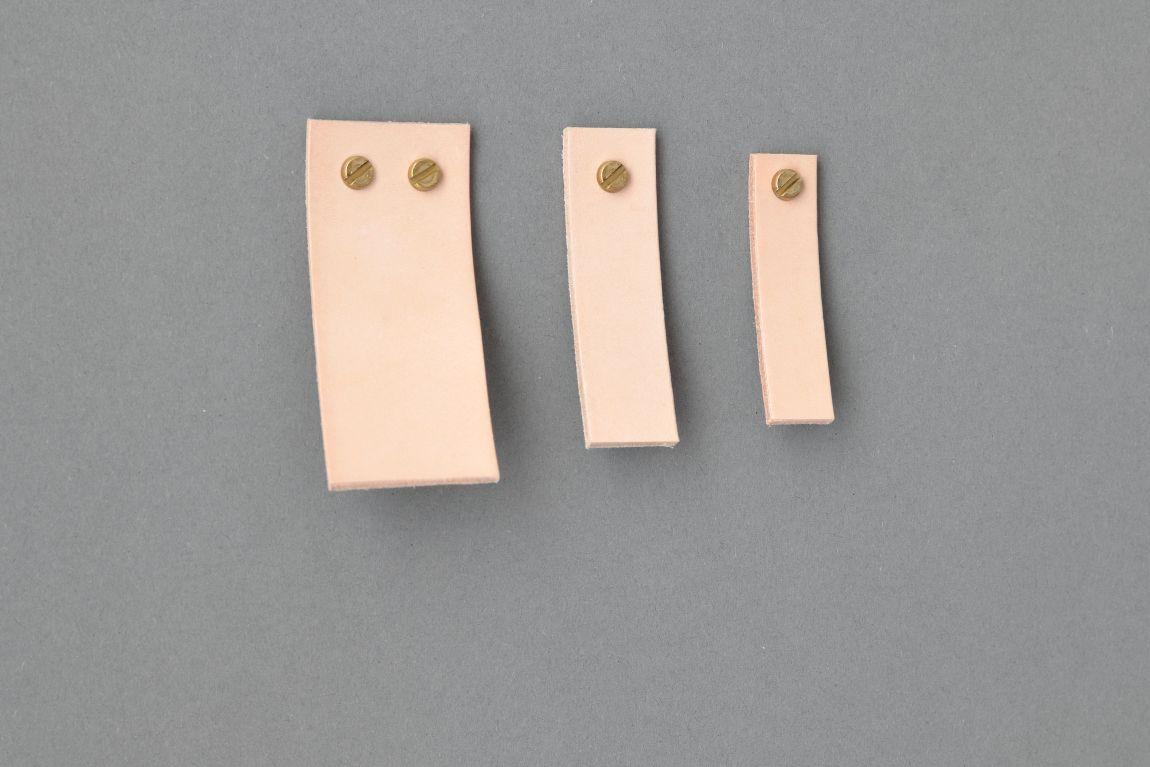 Skórzany uchwyt meblowy Lade Li #3 naturalny 15 mm - Steil
