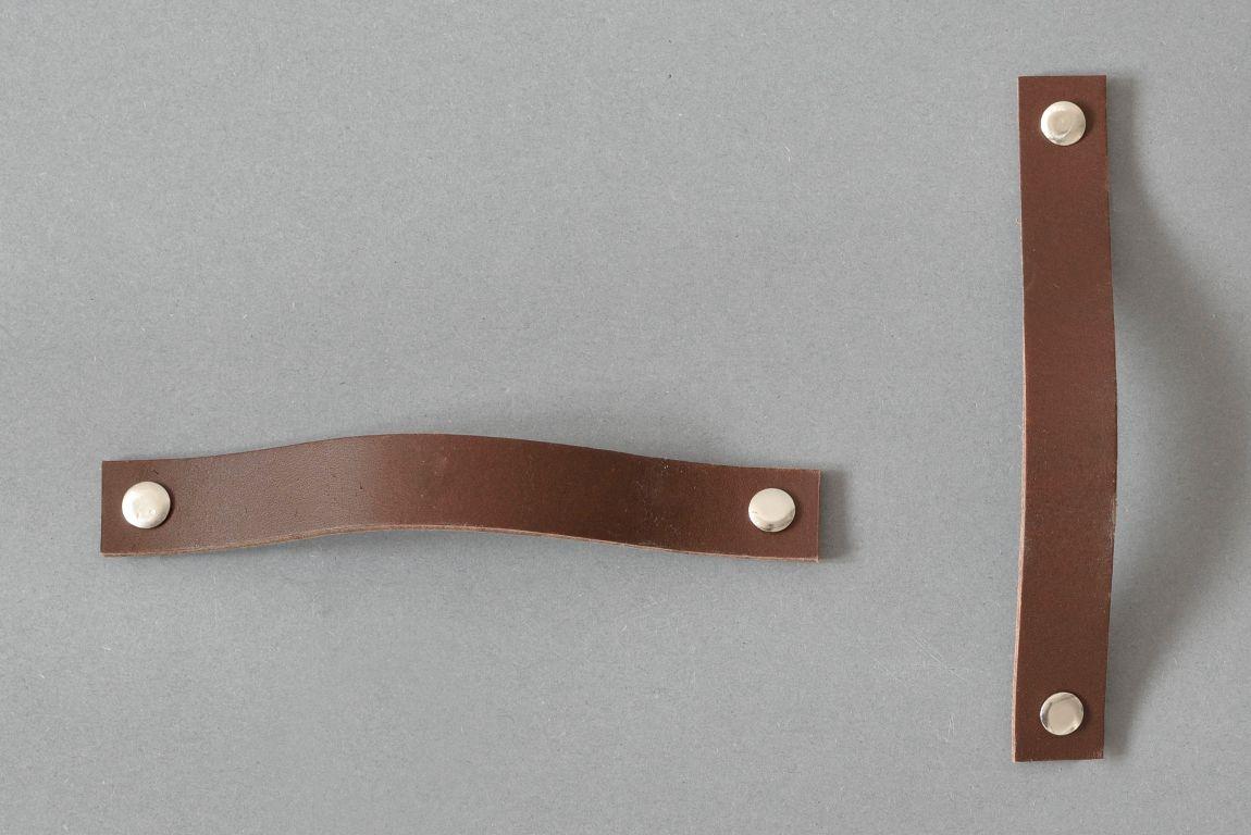 Skórzany uchwyt drzwiowy Lade #4 ciemnobrązowy - Steil