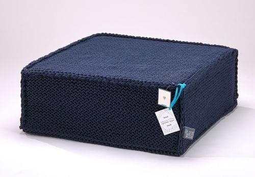 Puf do siedzenia Soft Flat dark blue - We Love Candles&We Love Beds   JestemSlow.pl