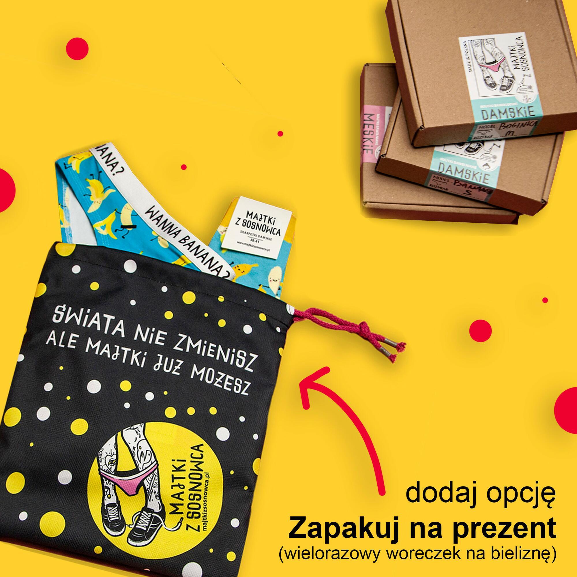 Majtki Grażyny - czarne figi bambusowe damskie z napisem - Majtki z Sosnowca by After Panty | JestemSlow.pl