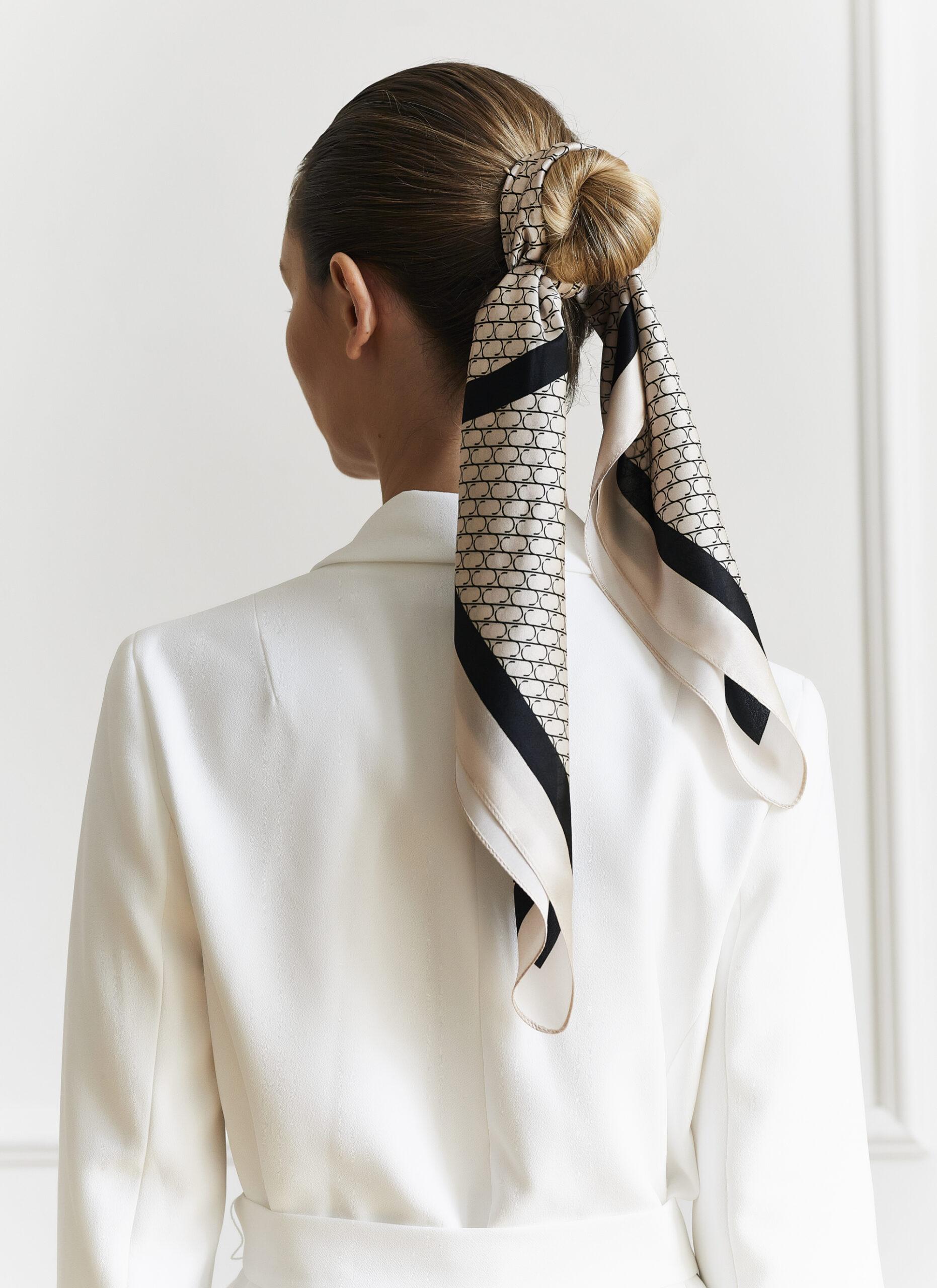 Jedwabna apaszka Sine Silk | CREAM - Sine Silk | JestemSlow.pl