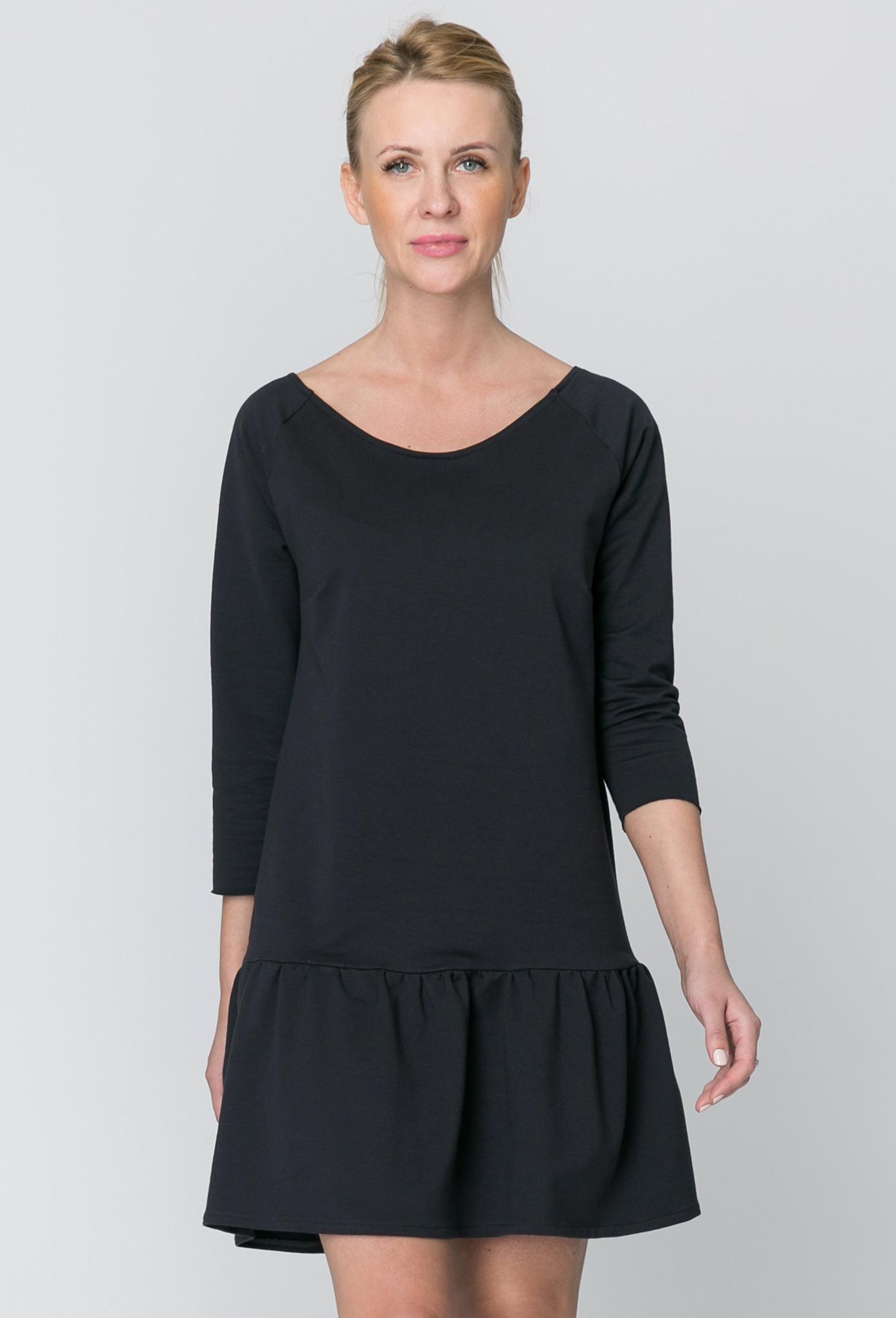 Sukienka z Falbanką Graphite WOMAN  polski projektant - The Same