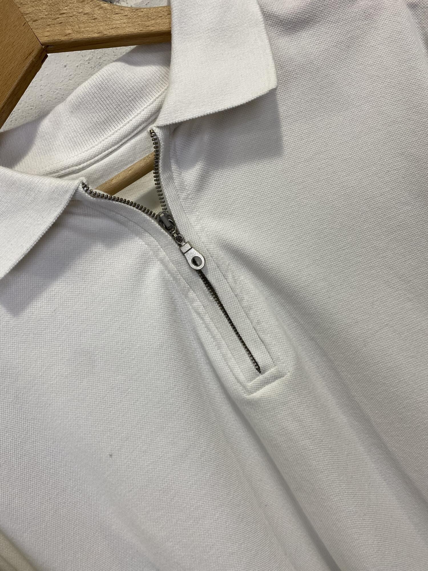 Biała koszulka polo - Vintage Store | JestemSlow.pl
