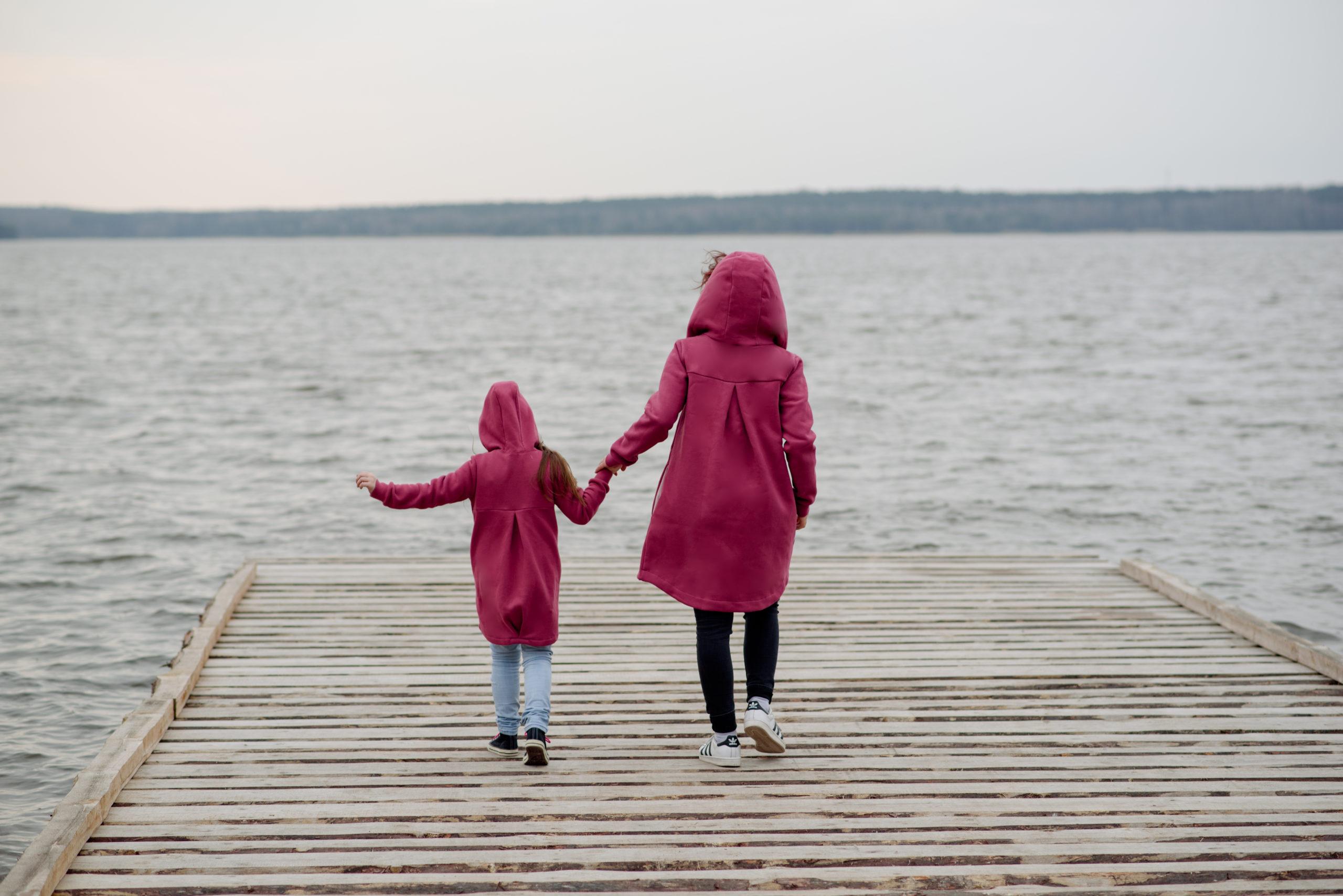 Płaszcz damski wiosenno jesienny Premium-ciemny róż - Bubalove