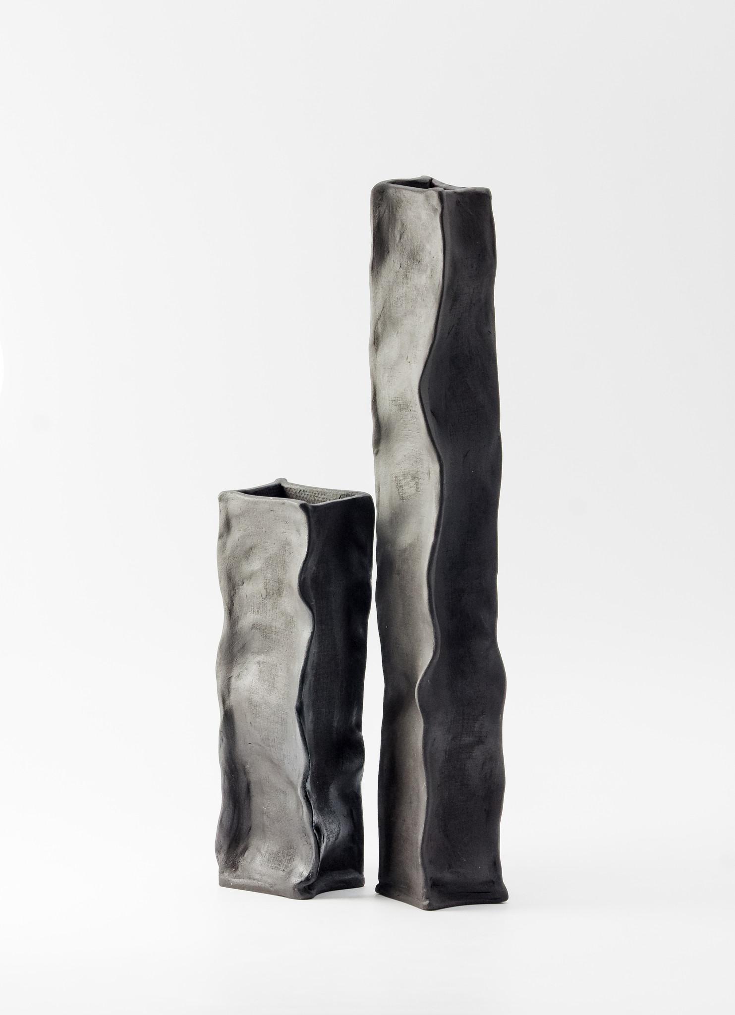 Wazoniki czarne PAPIEROWE TORBY komplet 2 sztuki (wysoki i niski) Lui & Clay - Slow Store | JestemSlow.pl