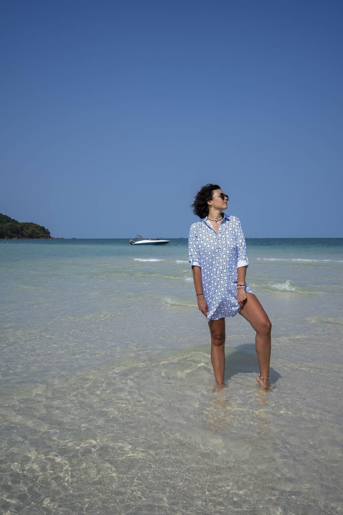 Tunika koszulowa z kieszeniami Pacifico LOOK 715 LOOK made with Love - Slow Store   JestemSlow.pl