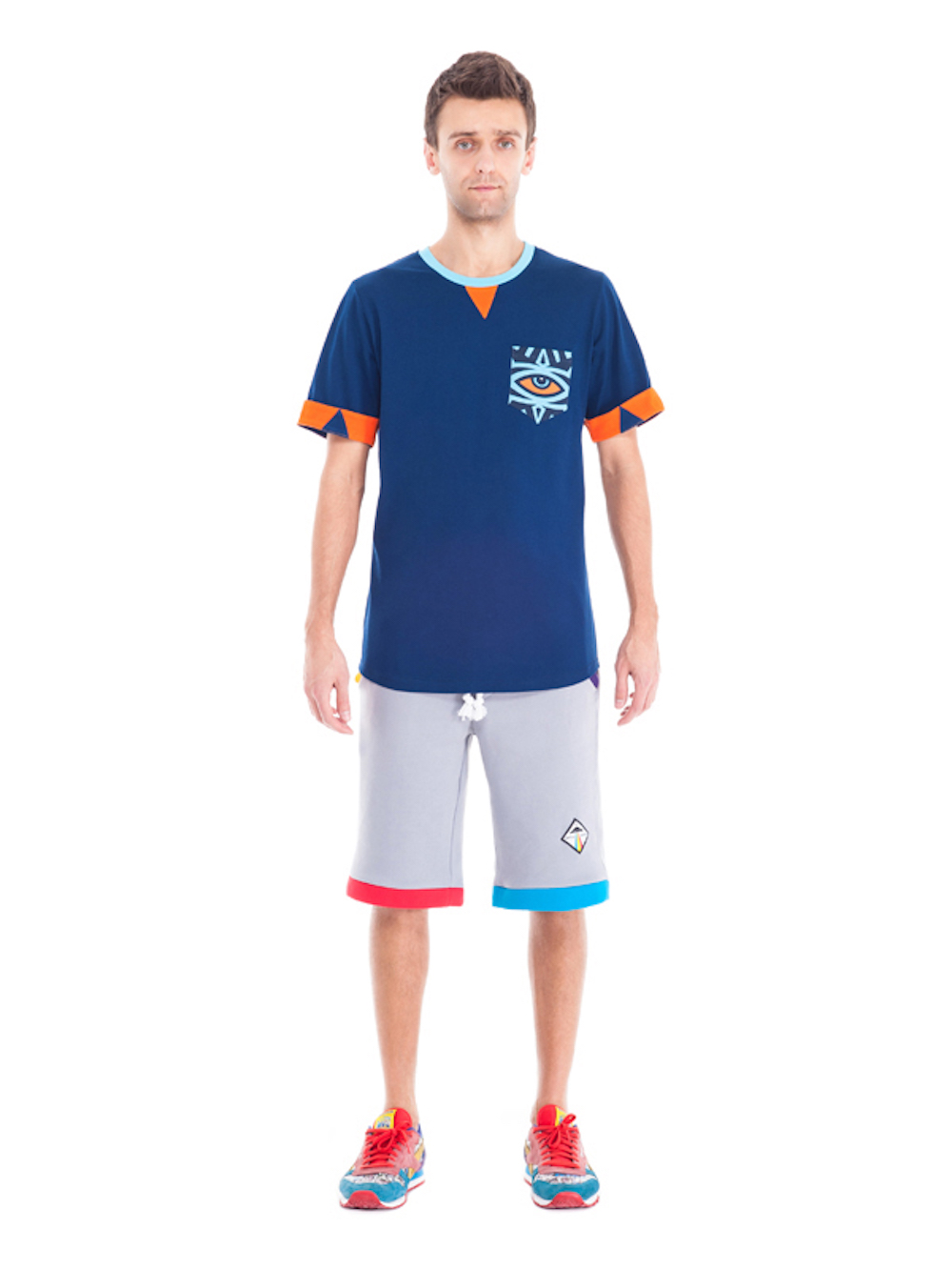 Horus Pocket T-shirt (Blue) - Okuaku