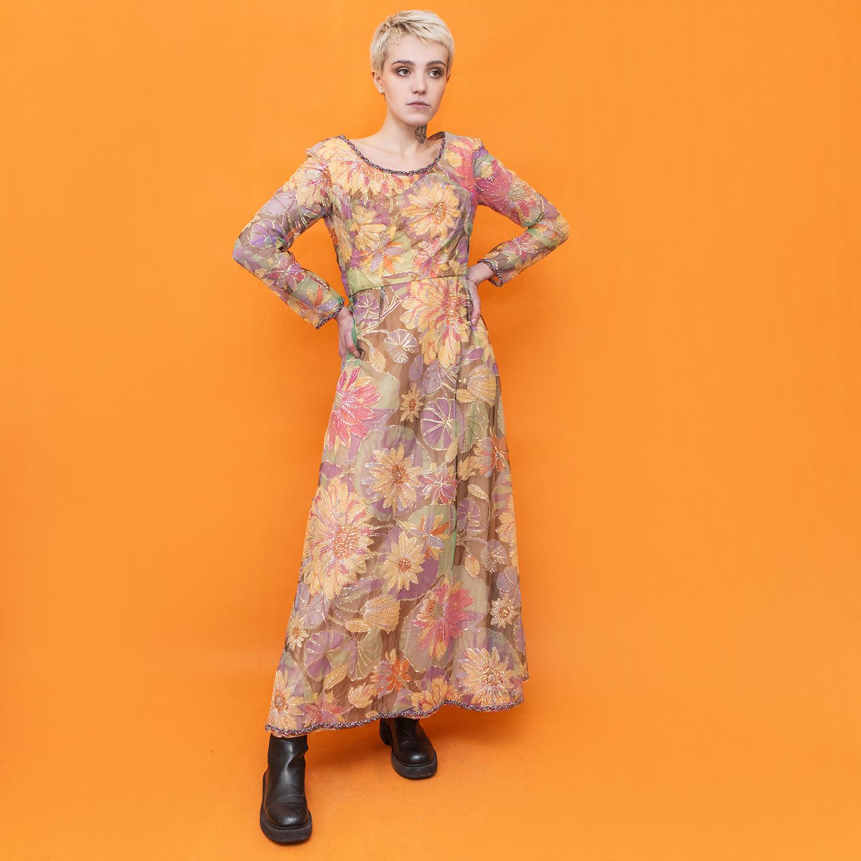Sukienka maxi w stylu vintage z lat - KEX Vintage Store   JestemSlow.pl