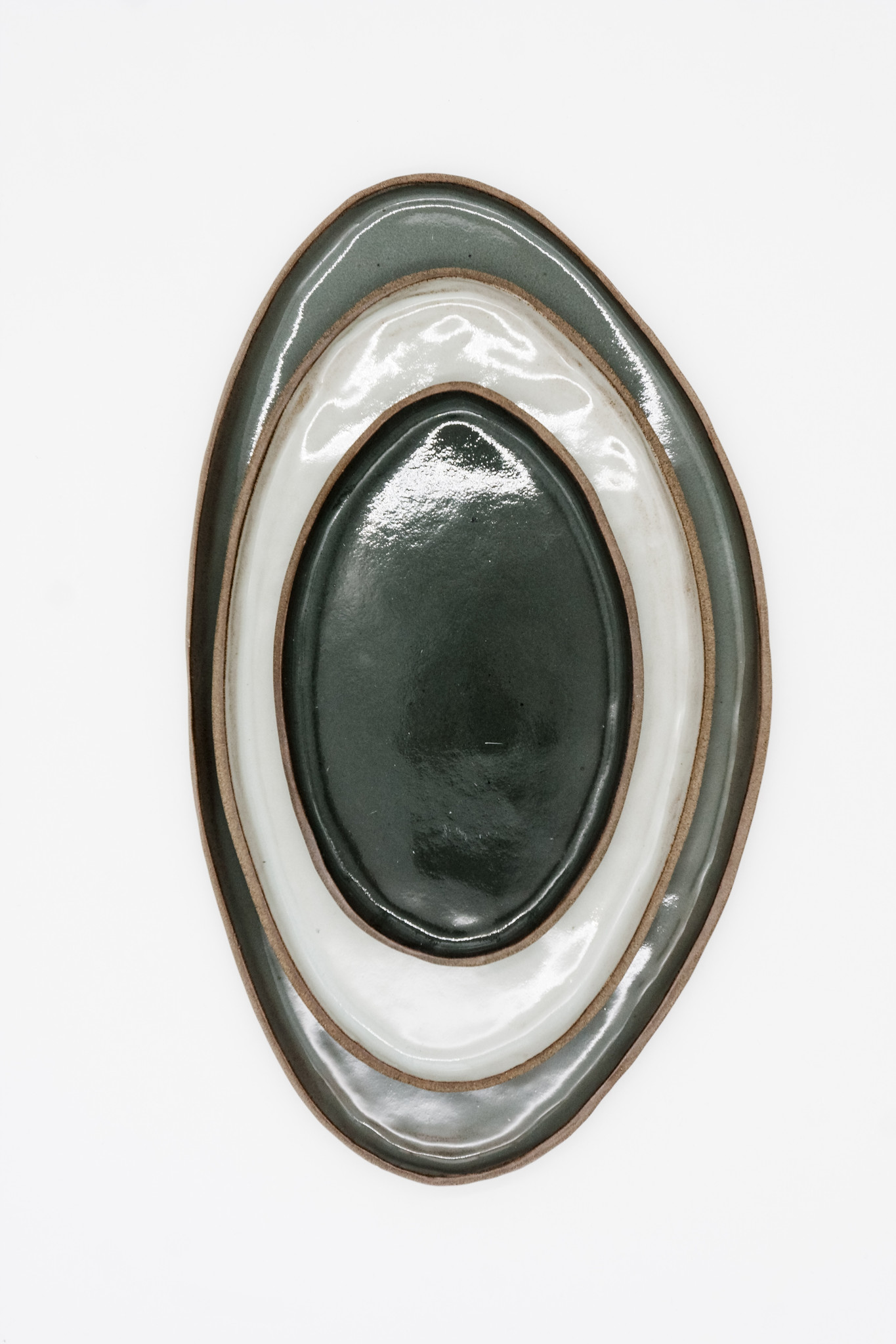 Komplet owalnych półmisków, kolekcja SHADOWS OF GREY - Lui & Clay | JestemSlow.pl