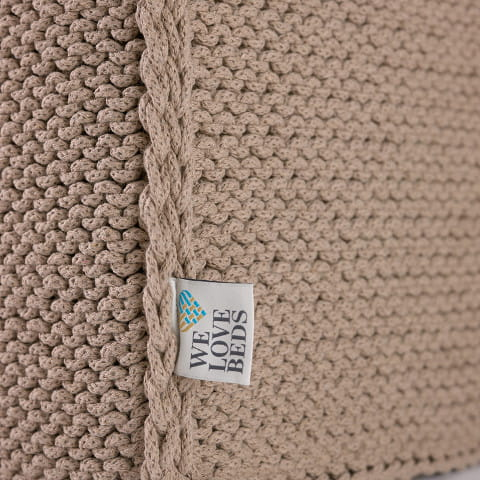 Puf do siedzenia Beauty Cube beige - We Love Candles&We Love Beds