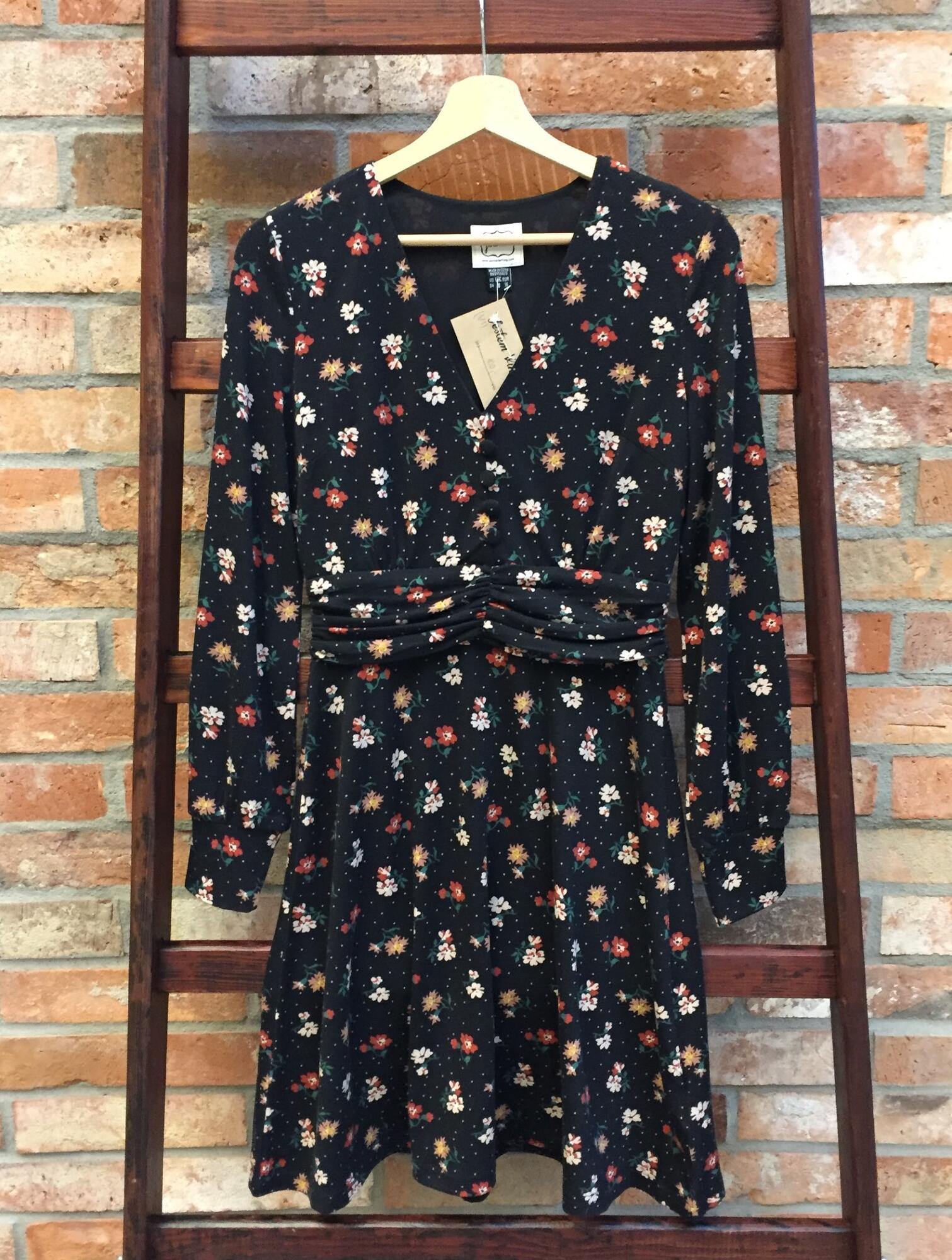 Sukienka JOANIE Vintage w kwiaty - Vintage Store | JestemSlow.pl