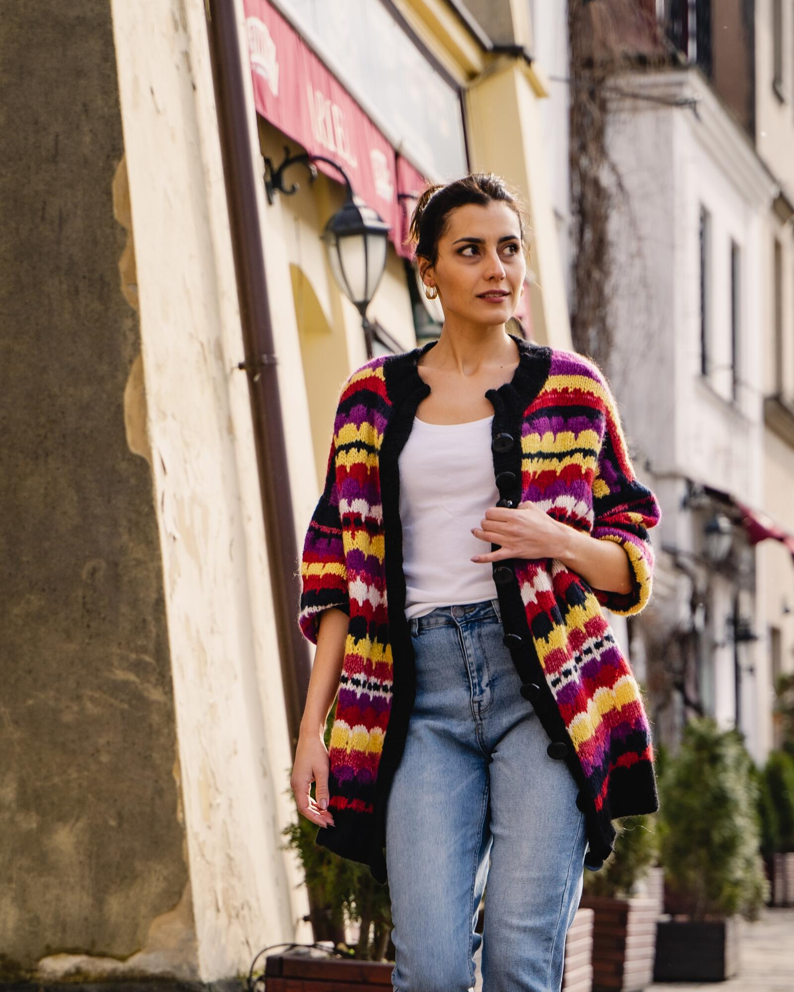 Sweter wełniano-bawełniany GAUDI - SYLVIA DARA SYLWIA DYDA   JestemSlow.pl