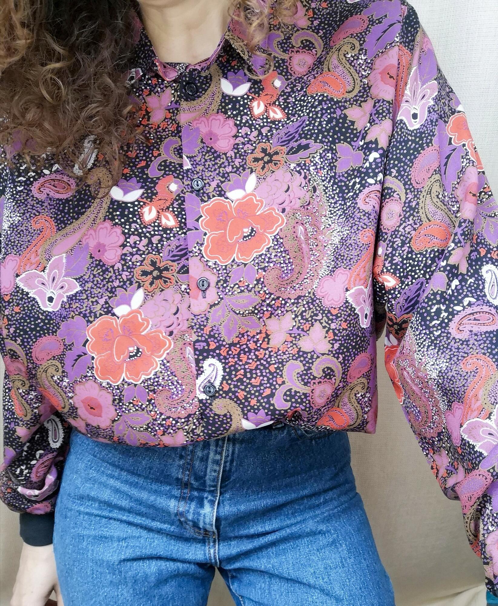 Vintage koszula w kwiaty - PONOŚ SE vintage shop | JestemSlow.pl