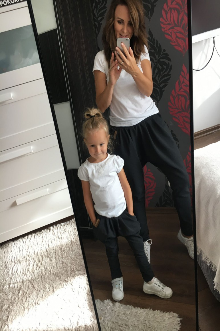 Zestaw spodni dla mamy i córki - Grafit - Lovemade