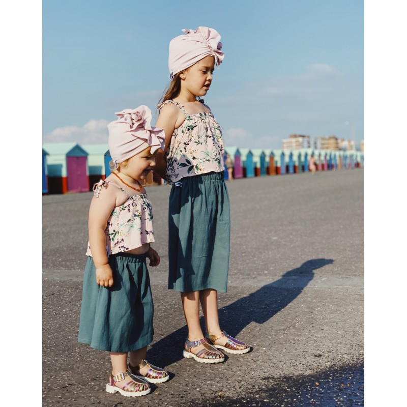 Spódnica muślinowa morska midi Rozmiar - Mizerki Kids