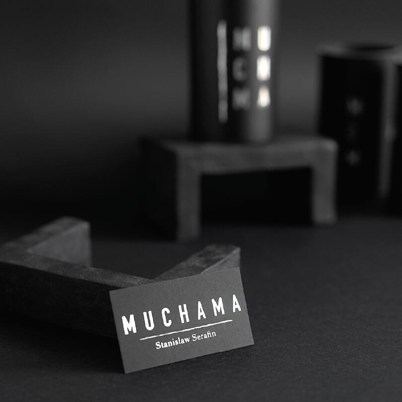 Granatowa maseczka w aparaty - MUCHAMA | JestemSlow.pl