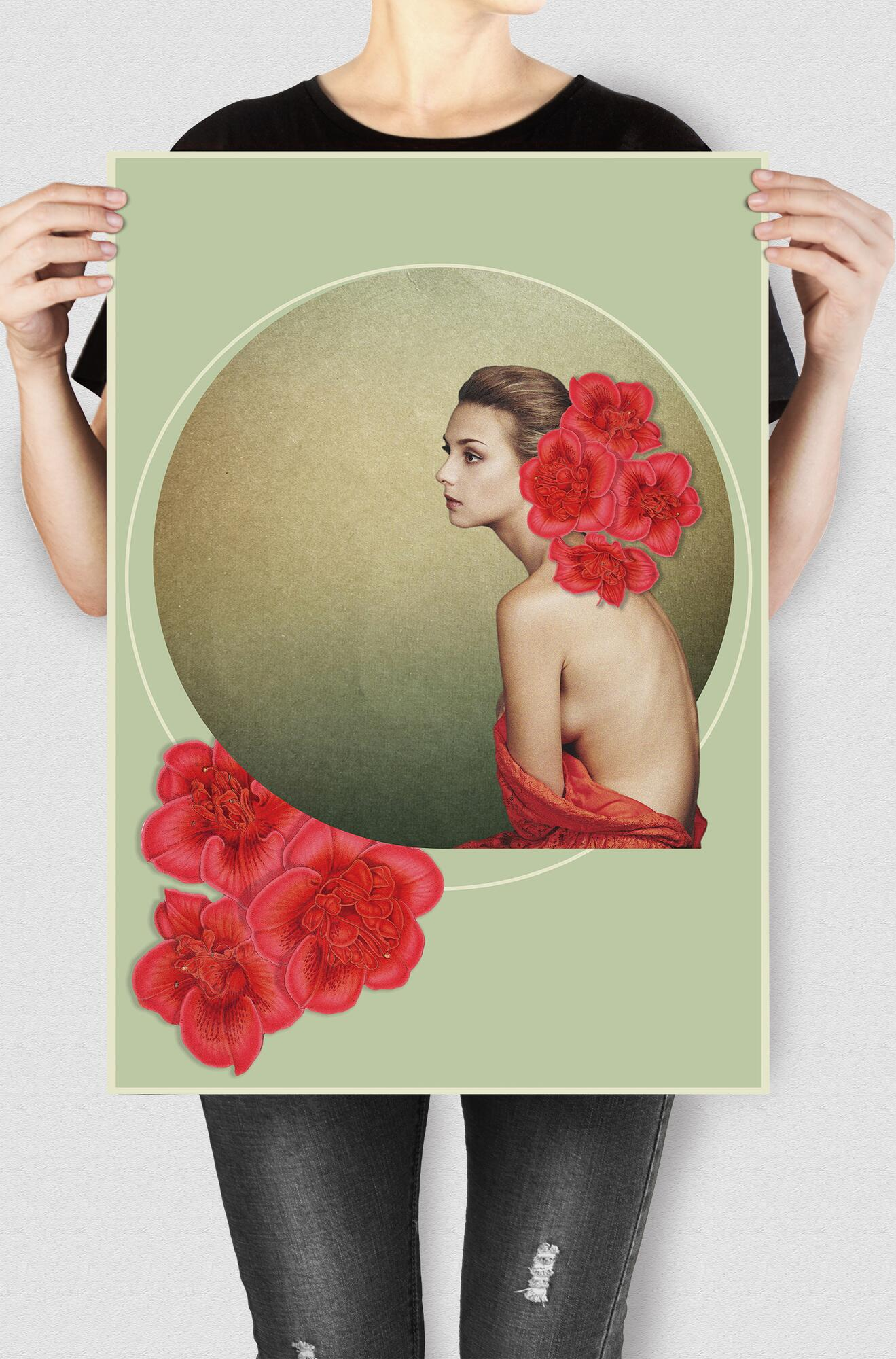 India Devos - grafika na wydruku (kolaż) -Glowacka.Studio | JestemSlow.pl