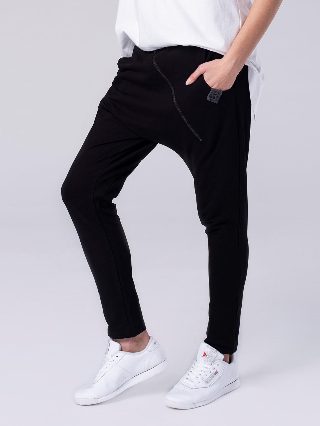 Spodnie z dżerseju bawełniane Tea Look 702 - LOOK made with Love | JestemSlow.pl