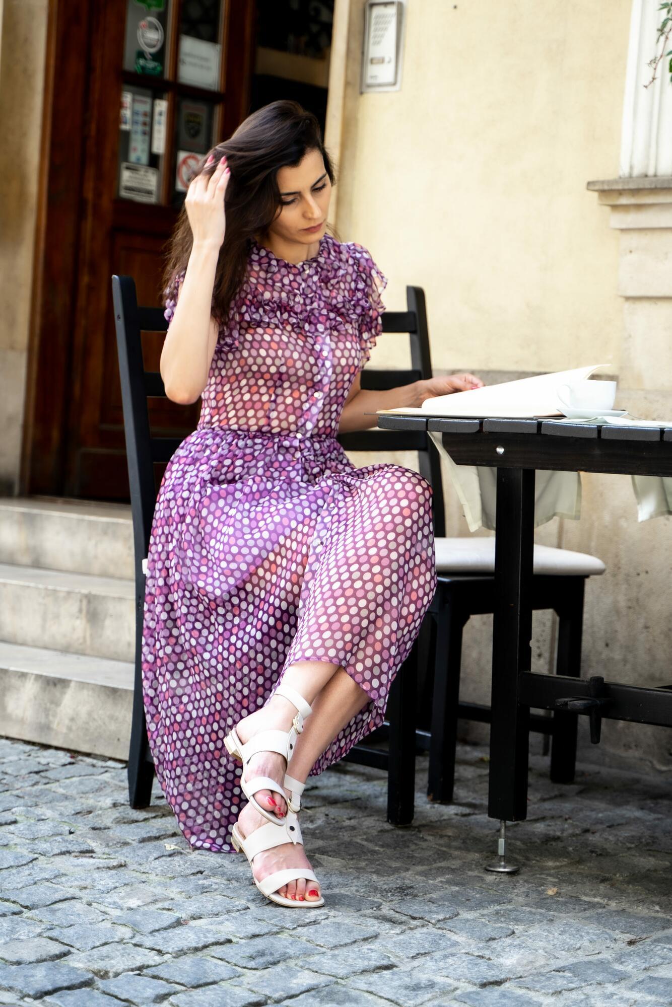 Sukienka jedwabna LAGUNA COLORADA - kod rabatowy - SYLVIA DARA SYLWIA DYDA | JestemSlow.pl