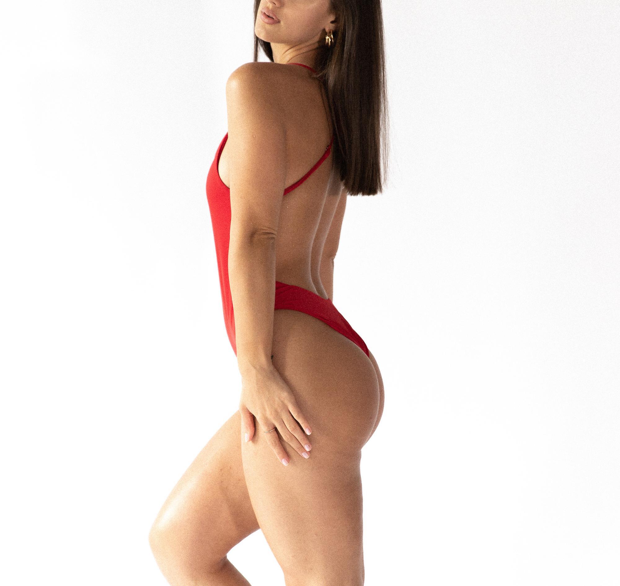 CLASSIC KOSTIUM JEDNOCZĘŚCIOWY RED - Tropiko Swimwear